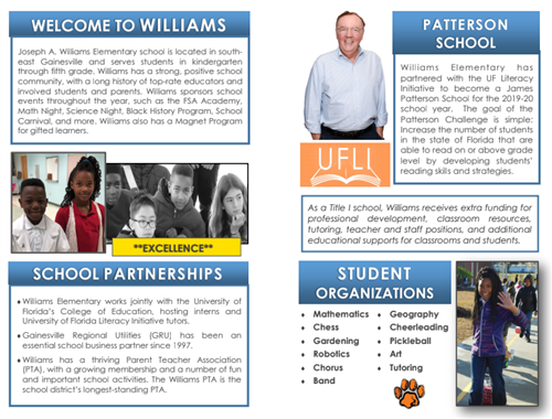 Joseph Williams Elementary Brochure Second Page