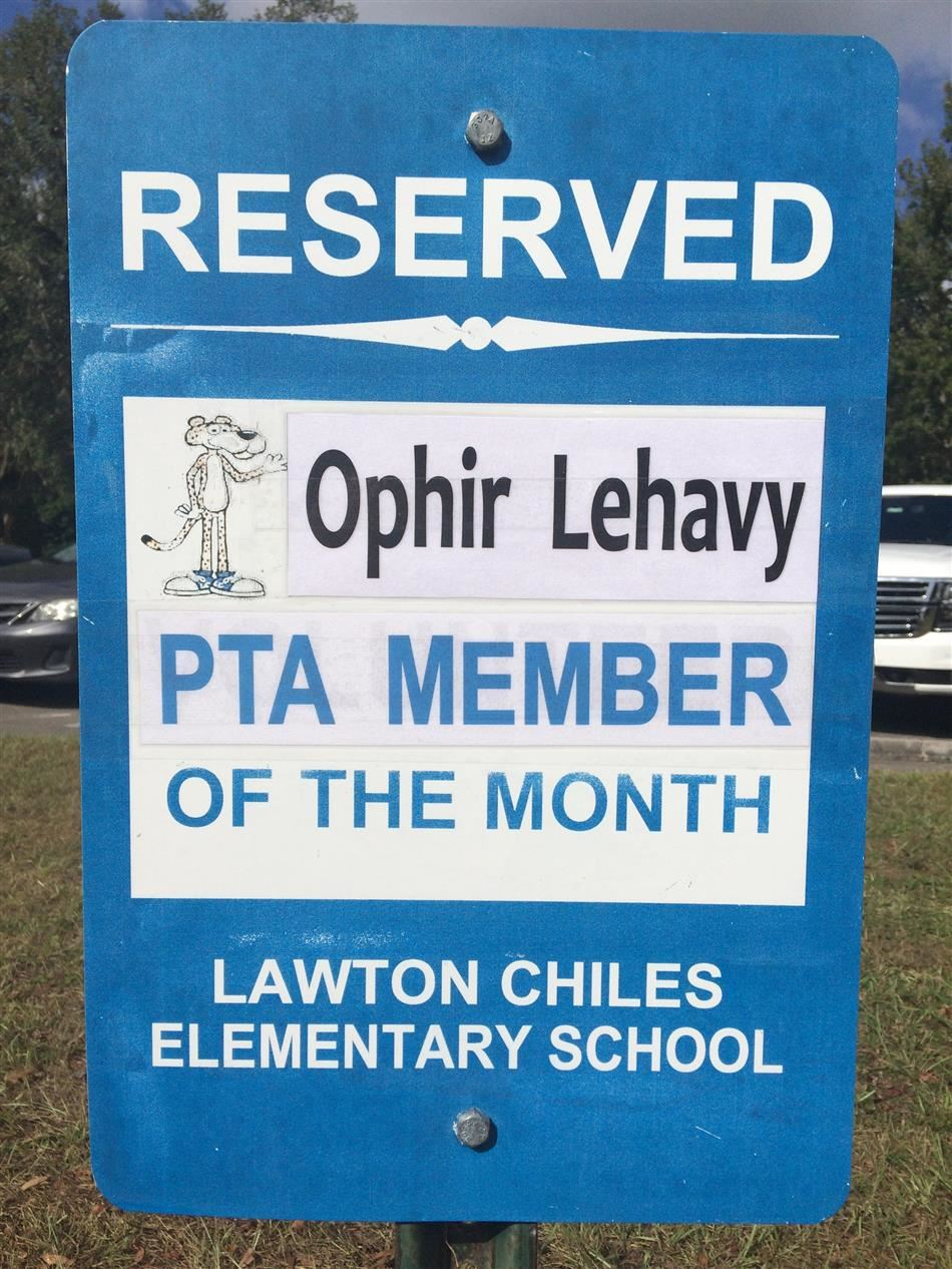 OCT pta member of the month