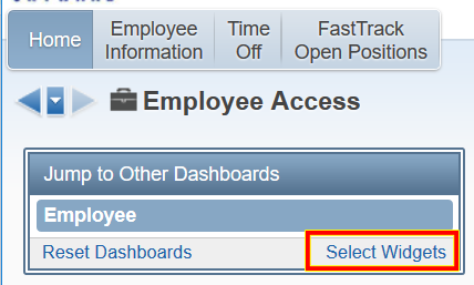 Select Widgets Example